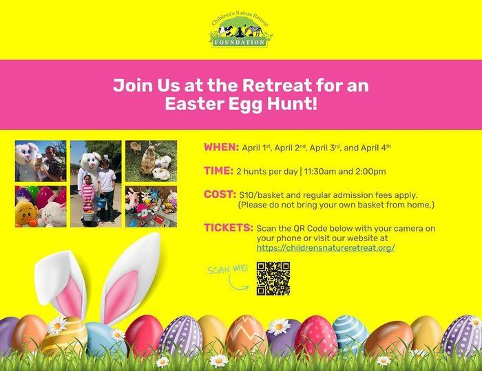 Flyer for the Easter egg hunt in San Diego